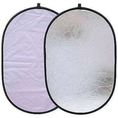 "CY 24x35"" 60x90cm Oval 2 in 1 Portable Collapsible Light Photography Reflector"