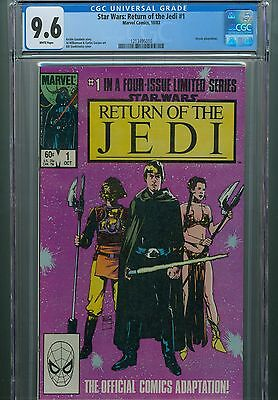 Star Wars Return Of The Jedi CGC 1 2 3 4 9.6 Set Darth Vader Luke Han Solo Leia