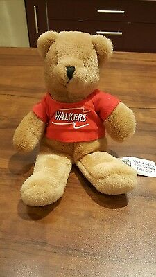 Small Brown Walkers bean bear Limited 50th Edition with Tshirt **Cute and plush*