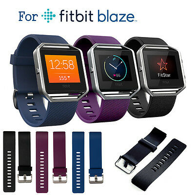 Classic Replacement Wristband Band Strap For Fitbit Blaze Small / Large 3 Colors
