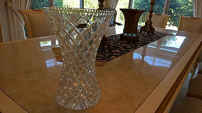 Beautiful VIOLETTA hand-cut 24% Lead Crystal VASE, Large, Made In Poland