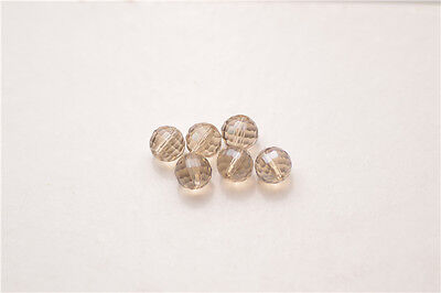 20pcs Gray Round Ball 96Faceted Beads Glass Crystal Loose Findings Spacer 10mm