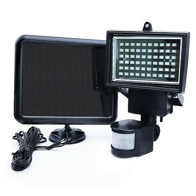 60 LED Solar Power Motion Infrared Sensor PIR Detector Security Yard Flood Light