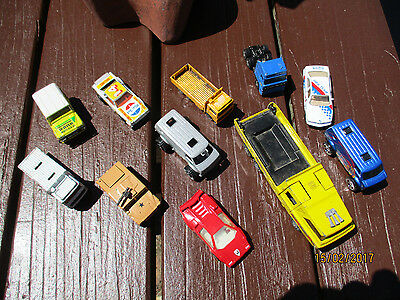 Out Of A Shed-Large Lot Vintage -Matchbox Cars 1970-1980 X 11