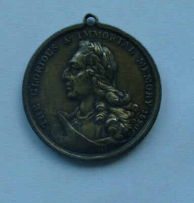 Rare William III 1690 IRELAND, Orange Assn, Supporters Silver Medal