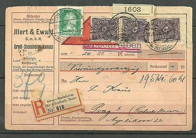 021- Germany 1927 Parcel card