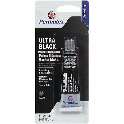 Permatex Ultra Black RTV Silicone Gasket Maker Sealant Silicon Oil Pump Sump