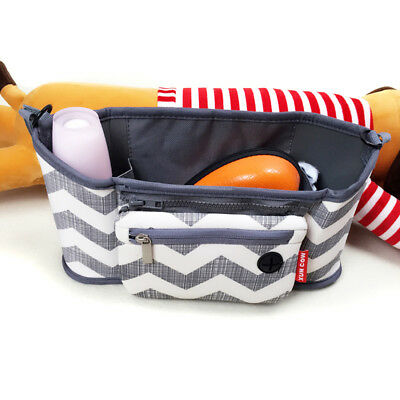 1xTravel Baby Pram Storage Bag Diaper Stroller Organizer Pushchair Bottle Basket