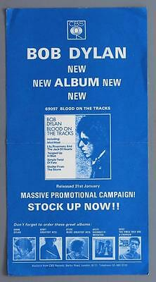 BOB DYLAN - rare original Blood On The Tracks 1975 CBS promo poster
