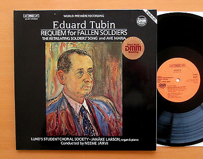 BIS LP-297 Eduard Tubin Requiem For Fallen Soldiers Neeme Jarvi 1986 Gatefold NM