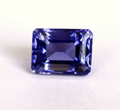 2.04Cts Certified Natural Iolite Octagon Cut 8x6 mm Lustrous Blue Shade Gemstone