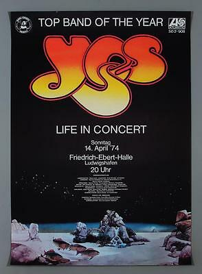YES - mega rare vintage original Germany 1974 concert poster