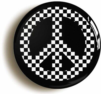 SKA PEACE BADGE BUTTON PIN (Size is 1inch/25mm diameter) MOD 1970s