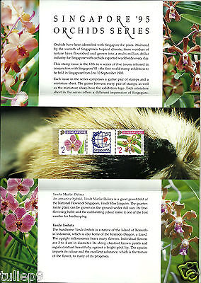 Singapore (1995) -  Singapore '95 Orchid Series Presentation FDC