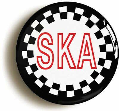 SKA CIRCLE BADGE BUTTON PIN (Size is 1inch/25mm diameter) MOD 1970s