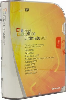 Microsoft Office 2007 Ultimate - 1 User (2 Devices) - ENGLISH incl. DVD - NEW
