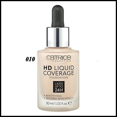 Catrice HD Liquid Coverage Foundation Last Up to 24H Mattifying # 010  30ml