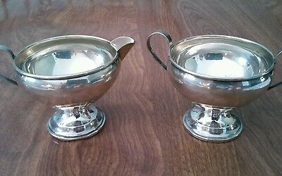 Sterling Silver Weighted Cream And Sugar Bowls