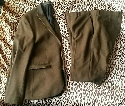 """ASOS Brown Mens Fulll Suit Jacket 42"""" Chest & Trousers 34"""" Waist (wedding, prom)"""