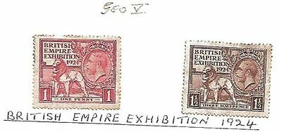 GB 1924 SG432/3 British Empire Exhibition Wembley CDS Used Set