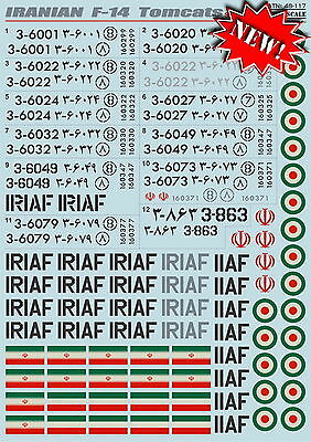Print Scale 48-117 Decal for Iranian F-14 Tomcats 1:48