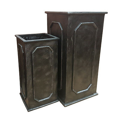 Faux Lead Antique Look Chelsea Fibreglass Tower Planter