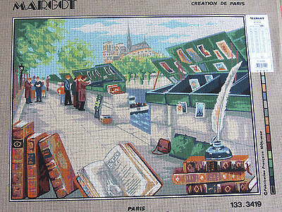 Canvas Tapestry Needlepoint Printed Margot Gobelin Canevas Paris New