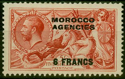 Morocco Agencies 1932 6F on 5s Rose-Red SG201 Fine Mtd Mint