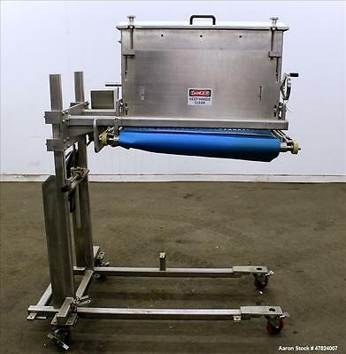Used- Applicator, Stainless Steel. With hopper, lump breaker and conveyor with d
