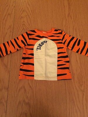 Baby Boys 0-3 Months Disney Baby Tigger Long Sleeved Top