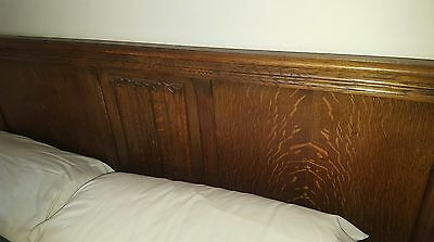 wooden double bed 4ft 6in