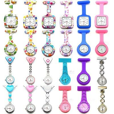 Silicone Nurse Watch Brooch Tunic Fob Watches With Free Battery Doctor Medical