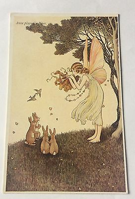 Early IDA Rentoul Outhwaite ' Anne Plays The Pipes' Fairy Postcard