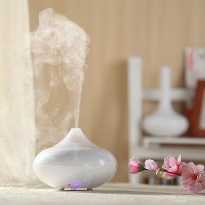 LED Aroma Diffuser Essential Oils and Relaxation Lighting Air Purifier White