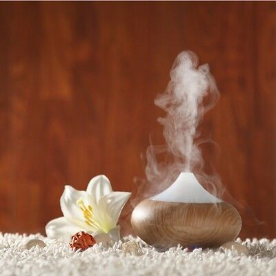 LED Aroma Diffuser Essential Oils and Relaxation Lighting Air Purifier Wood
