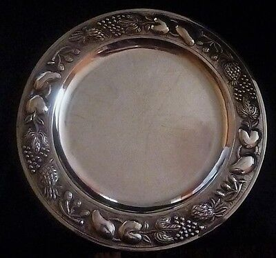 Early 20th Century Ornate Mexican Sterling Silver Embossed Charger Plate