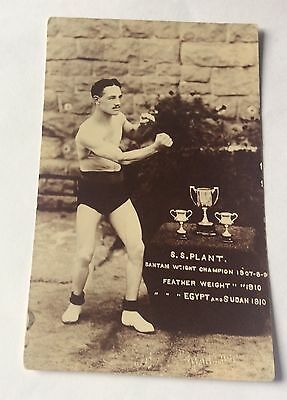 Early Photo Postcard S.A Plant Bantam & Feather Weight Boxing Champion 1907-10