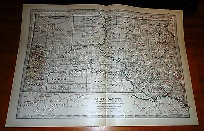 SOUTH DAKOTA America - USA -  ADAM & CHARLES Antique Map 1903