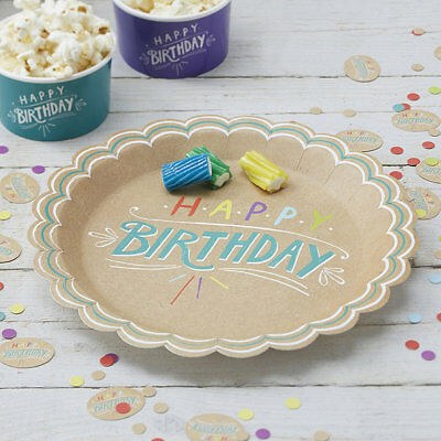 Pack of 8 Happy Birthday Paper Plates for Parties  sc 1 st  PicClick UK & DOTCOMGIFTSHOP HAPPY CLOUD PAPER PLATES (SET OF 8) - £1.95 | PicClick UK