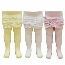 infants frilly cotton tights size 18-24  months