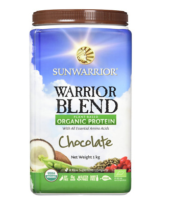 SunWarrior Blend Protein 1kg Chocolate new tubs available
