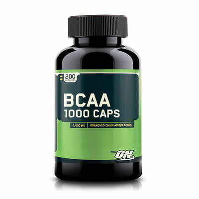 Optimum Nutrition ON BCAA 1000 200 Caps ON branched chain amino acids
