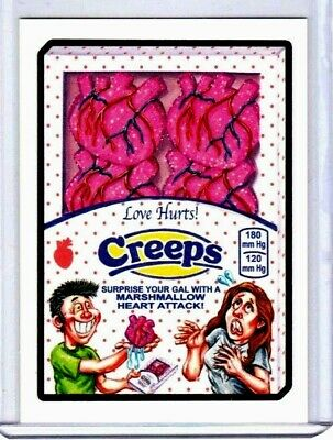 """2017 Wacky Packages """"creeps"""" Network Spews Limited Edition Only 233 Made"""