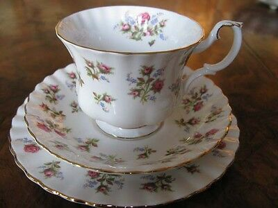 Royal Albert Winsome Patterned Trio Of Cup Saucer And Plate.