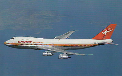 Post Card Of Qantas 747 Produced By Qantas - Very Few Unused Left Available