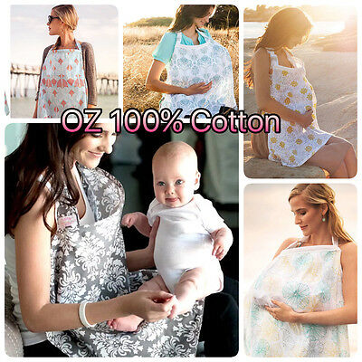 3in1 Baby Breastfeeding Nursing Maternity Pram Cover 100%Cotton Blanket 100x70cm