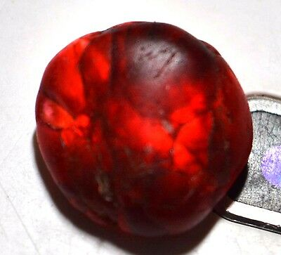 17.25 Ct Natural Blood Red Garnet Hessonite Unheated Earth-Mined Rare Best Rough