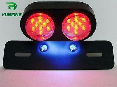 Motorcycle LED Tail Light Brake Lights with License Plate LightTuning Parts