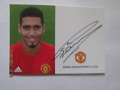 Chris Smalling,  Manchester  United, Hand  Signed  Club  Card,