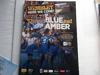 Signed by players Leeds Rhions Rugby League prog match ticket and bits